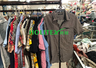 Holitex Mens Second Hand Clothing Colorful Used Mens T Shirts Short Sleeves