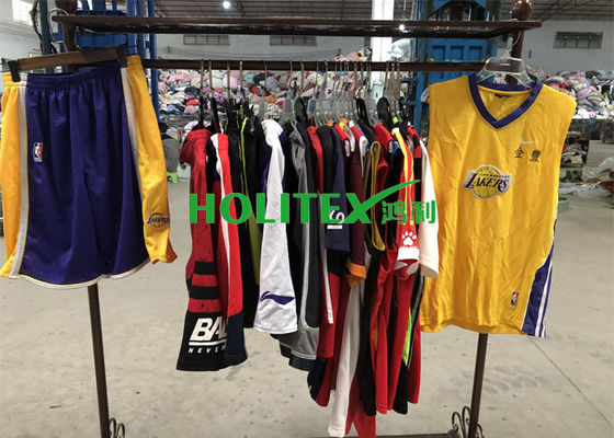Summer Fashion Second Hand Clothes , American Style Used Sports Uniforms