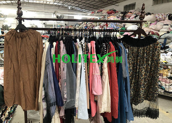 First grade American style second hand clothes , used women's clothing , ladies silk skirts