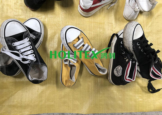 Brightly Color Used Women'S Shoes Fashionable Second Hand Casual Canvas Shoes