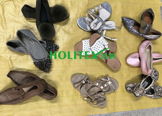 Comfortable Used Womens Sandals , Second Hand Leather Shoes For Ladies