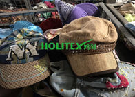 China Men Second Hand Caps Cotton / Polyester Material Used Hats For Southeast Asia company