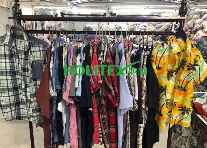 Adults 2nd Hand Mens Clothing , Second Hand Used Clothes Mens Shirts Short Sleeves